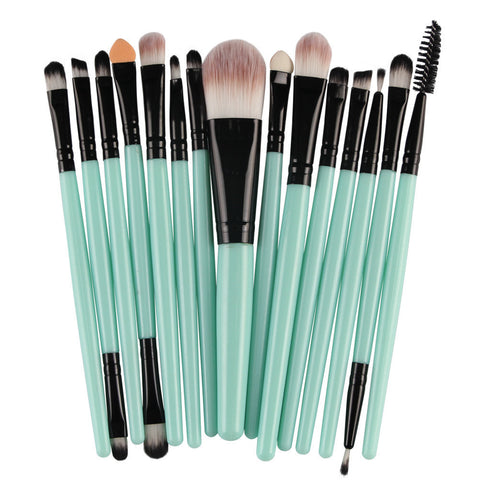 15 pcs professional Brush Set Make-up Toiletry Kit
