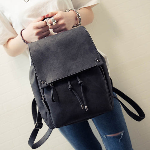 Shoulder Strap Canvas Women Backpacks