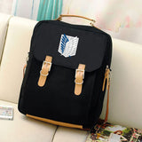 Canvas Preppy Style Mochila School Backpack