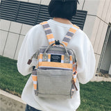 2018 Style Girls Canvas School Backpack Women Travel Bags