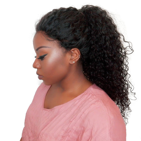 250% Density Curly Lace Front Human Hair Wigs With Baby Hair Pre Plucked Bleached Knots You May Brazilian Remy