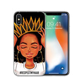 Black Girl Cover Melanin Poppin Aba Soft Silicone Phone Case for iPhone X 6 7 8 plus 5 5s se 6s Fashion