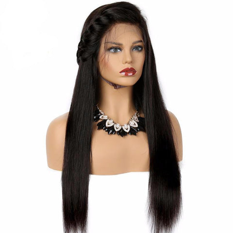 360 Lace Frontal Wig Remy Brazilian Long Straight Human Hair Wigs  Pre Plucked With Baby Hair