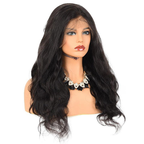 360 Lace Frontal Wig Remy Brazilian Natural Body Wave Human Hair Wigs Pre Plucked With Baby Hair