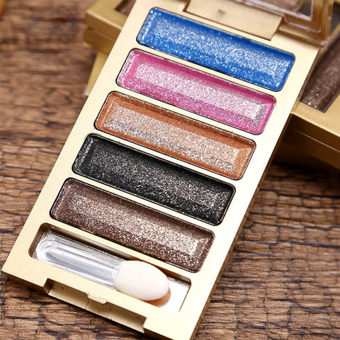5 Colors Shimmering Powder Eye Shadow Make up