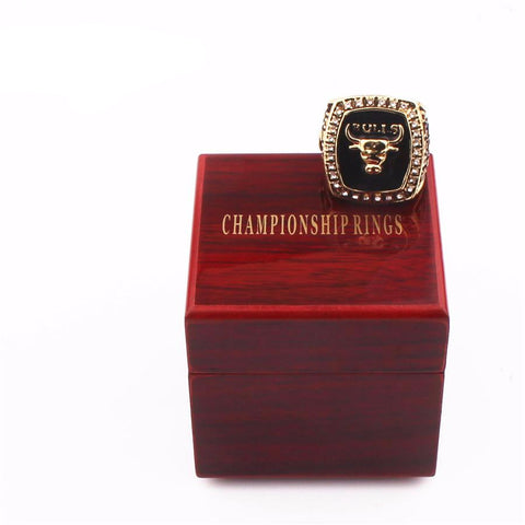 1991 Chicago  Champion Ring Wooden Box Combination