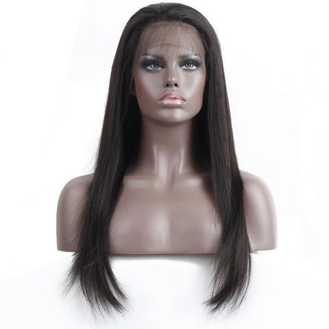 360 Lace Frontal Wigs Straight Brazilian Human Hair Wig 150%Density With Baby Hair PrePlucked Hairline Remy Hair