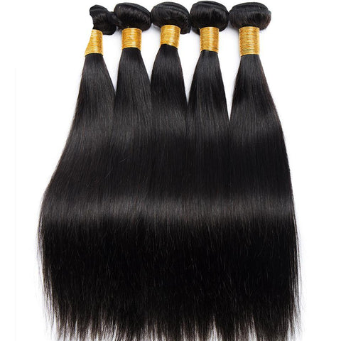 High Quality Peruvian Straight Hair Weave Bundles 100% Human Hair Weaving Natural Color Non Remy Hair Extensions 100G/Piece