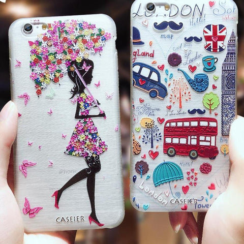 Fashion Patterned Phone Cases For iPhone 7 8 Plus 6 6s Plus X 5 5s SE Soft Silicone