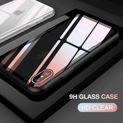 Tempered Glass Case For iPhone 7 8 Cases 0.55MM Protective Glass Cover For iPhone 6 6s Plus X