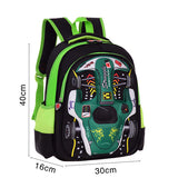 3D Racing Printed Children Backpacks