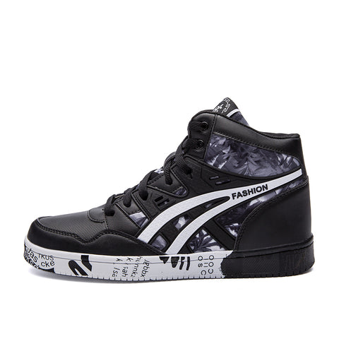 Autumn Hip Hop Leather Sneakers Lace-up Athletic Sport Shoes