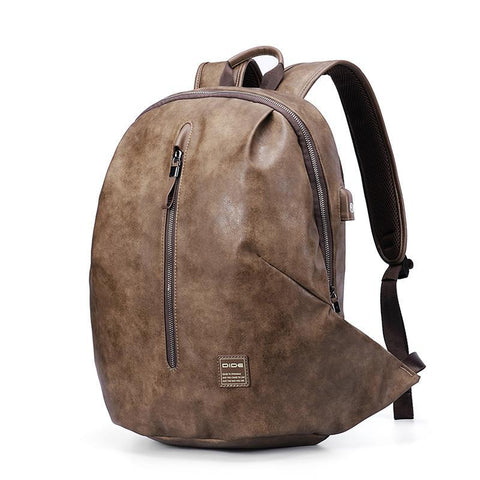 Anti-thief USB 15.6 inch Laptop Backpacks Mochila Vintage Leather Travel backpack Men