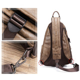 High Quality Large Capacity Anti-thief USB charging Shoulder Bags Vintage Handsome CrossBody