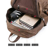 High Quality Anti theft Leather USB Charging School Backpack  Waterproof travel