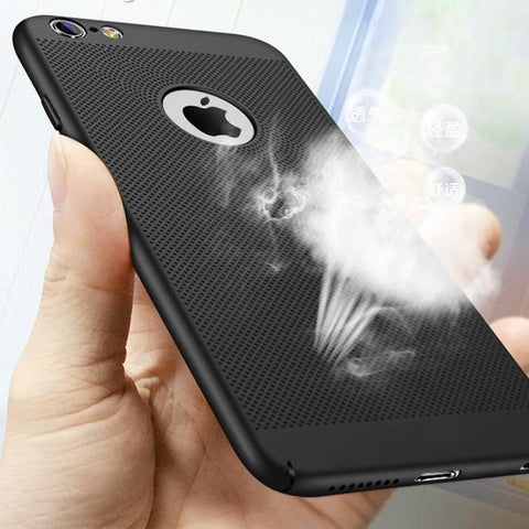 Hollow Heat Dissipation Cases Hard PC for iPhone X 10 8 7 6 S 6S Plus 5 5S SE Phone Case