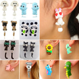 Handmade Polymer Clay Animal Earrings For Women Buy 2 Get 1 Free Discount Code: ClayAnimal