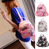 Flower Floral Women's Leather Backpack