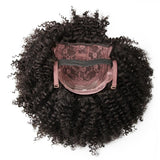 HOT SELLING Brazilian Kinky Curly Short Wig Can Be Dyed Full 310g 100% Remy Human Hair Wigs Natural Black Color