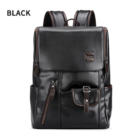 New 2018 USB Charging Leather Travel Backpacks With Anti Thief