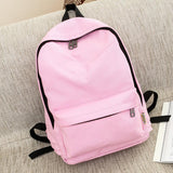 Premium Simple Canvas Students Backpack