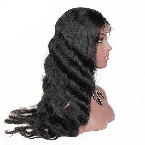 High Quality Wave Lace Front Human Hair Wigs Pre Plucked Brazilian Remy Hair With Baby Hair Bleached Knots