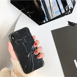 Marble Case For Iphone 8 7 Plus X 6 S Plus Fashion Grip Stand Holder Silicone Soft Phone Case