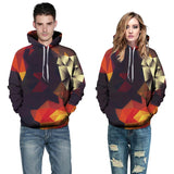 3D Blocks Autumn Sweatshirts Hooded Top