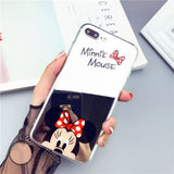 High Quality Phone Case For iPhone 8 7 5 6 s SE 5s 6s Plus 6Plus 6sPlus 7Plus 8Plus Mickey Minnie Mirror Cover