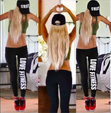 Women letters Printed Stretch Pants printed work out just do it leggings Women Slim Fit Cotton Leggins