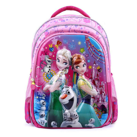 6D Snow Queen Kids School Bag Waterproof Printing