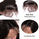 Brazilian Straight Hair Wig Pre Plucked Lace Front Human Hair Wigs Non Remy Hair With Baby Hair