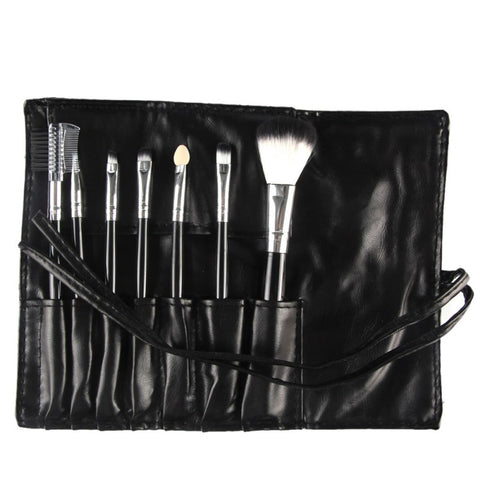 Professional 7 Pcs Make Up Brushes Foundation With Color Bag