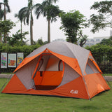 Quality Large Dome Tents for Family Event Waterproof Breathable Tents Camping 5 Person Outdoor Moving House Hiking Camping Tent