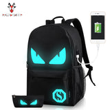 USB Charger Teenager Laptop School Backpack
