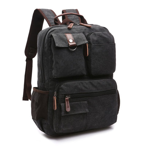 2018 Large Capacity Men Canvas Backpack Travel Bag Computer Backpacks
