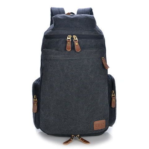 2018 Large Capacity Vintage Backpack Retro Male Shoulder Bag Unisex Travel Backpack