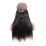 Silky Straight Lace Front Human Hair Wigs With Baby Hair 250% Density Brazilian Frontal Remy Pre Plucked