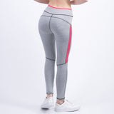 Sexy Ladies Leggings Movement Fold High Waist Fitness Leggings Patchwork Workout Women Pants Gray