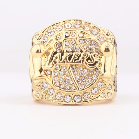 High Quality 2009 Lakers Champion Ring Gold Plated