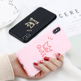 Glossy Crown Phone Case Letter KING Back Cover Love Heart For iPhone X 8 7 6S Plus