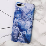 Gold Plating Marble Case Stone Image Phone Cases Ultra Thin Hard PC Back Cover For iPhone7 8 6 6s Plus