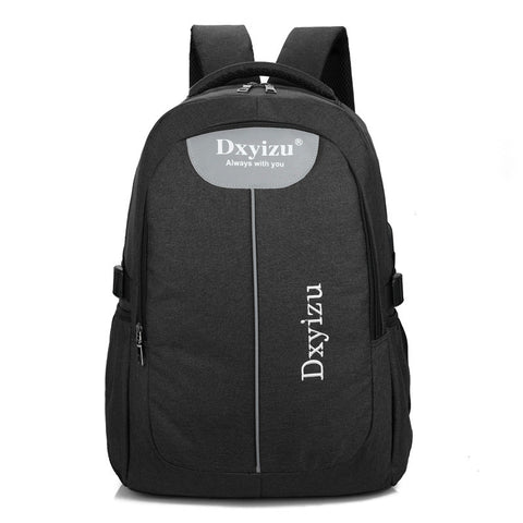 Usb Charger Canvas Backpacks For Men's