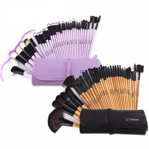 32pcs Brush Set Professional Soft Makeup+Bag
