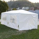 Wedding Tent 10'x20' Canopy Party Outdoor Gazebo Event Patio 4 Sidewall 2 Door  AP2015WH*FDS