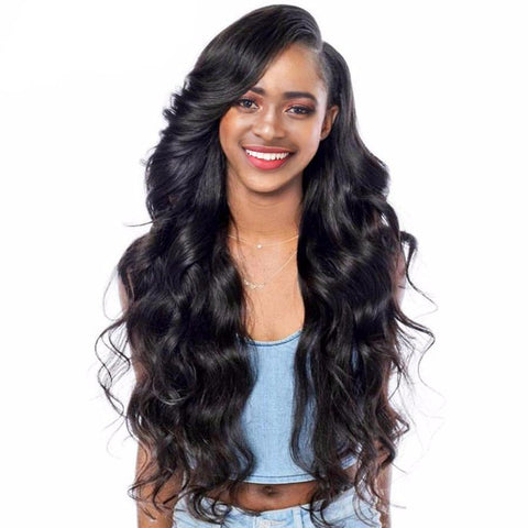 Glueless Lace Front Human Hair Wigs Malaysian Body Wave Pre Plucked Lace Front Wig Non Remy