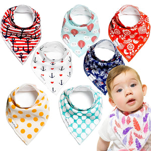 Baby Bandana Bibs - Beautiful Eclectic Style (Set of 8)