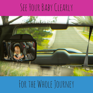 Baby Safety Car Mirror - Stylish Black