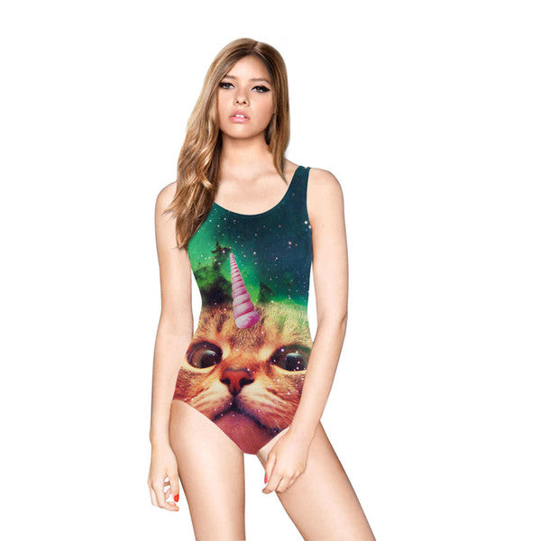 One-piece Unicorn Cat Swimsuit