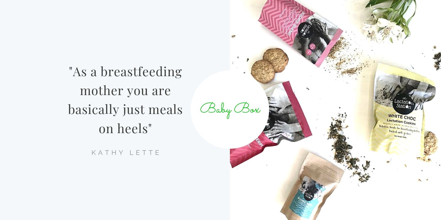 The Lactation Station Breastfeeding Cookies and Boobie Blend - A Preview!